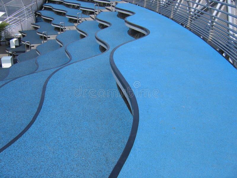 蓝色台阶 库存照片