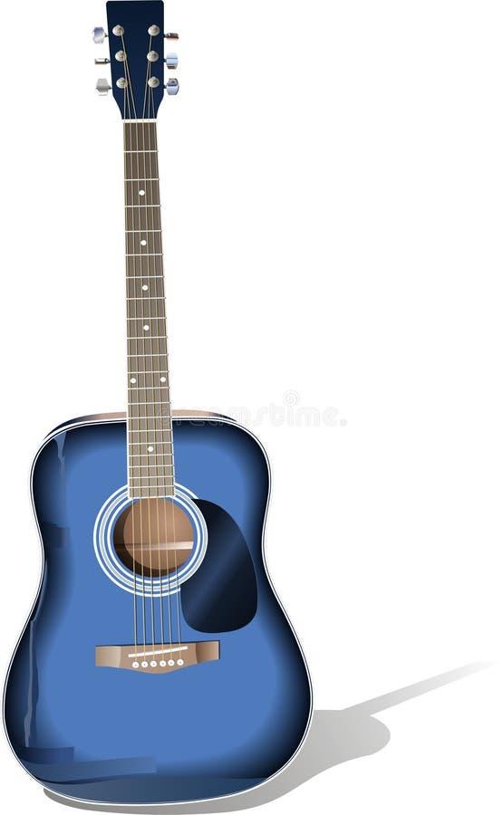 蓝色吉他 皇族释放例证