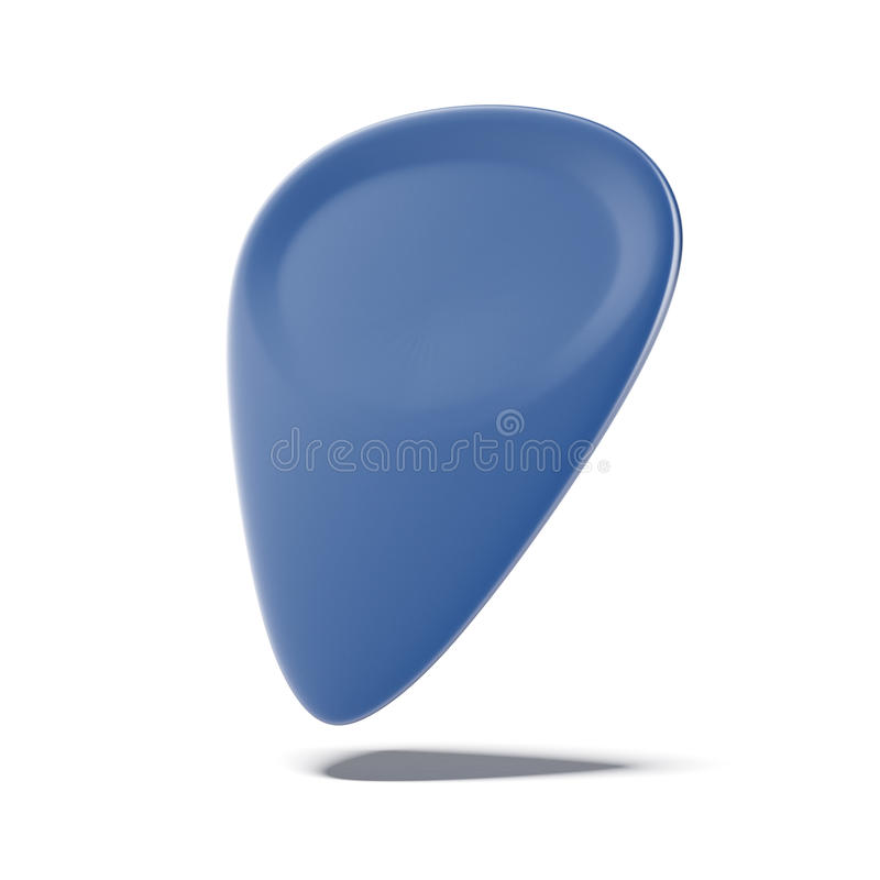 蓝色吉他琴拨 库存例证