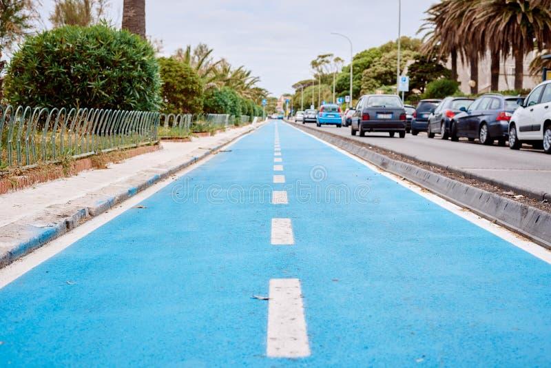 蓝色周期道路沿海 库存照片