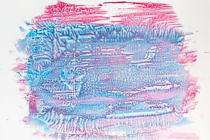 蓝色和桃红色指甲油自由空间的混合 库存图片