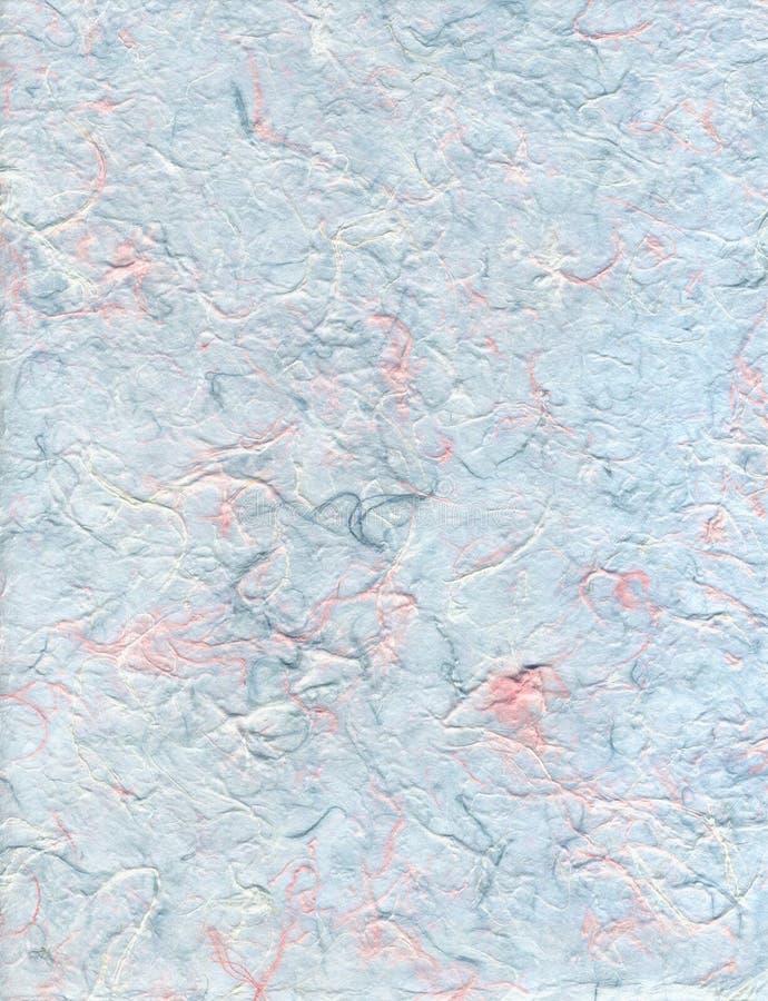 蓝色和桃红色纤维纸 库存照片