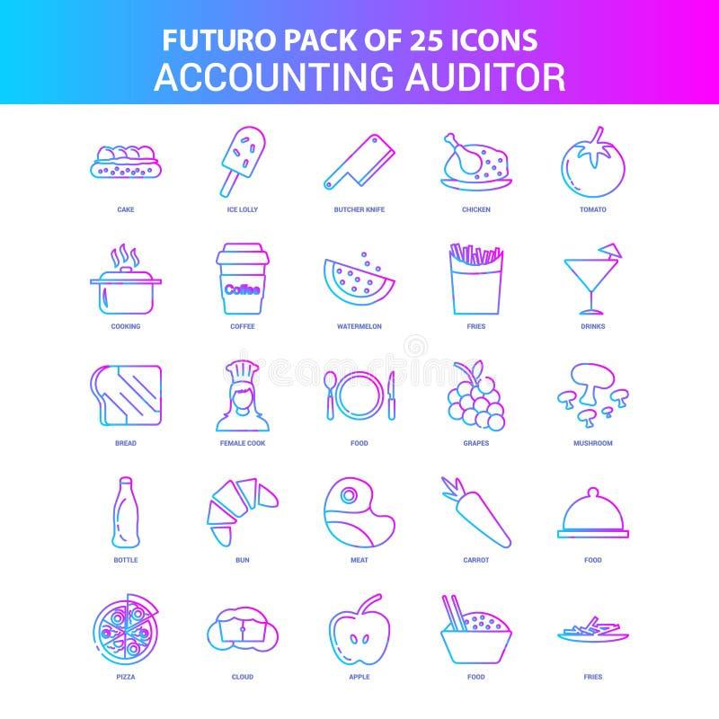 25蓝色和桃红色Futuro会计审计员象组装 库存例证