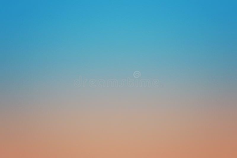 蓝色和橙色抽象纹理背景样式,设计模板 免版税库存图片