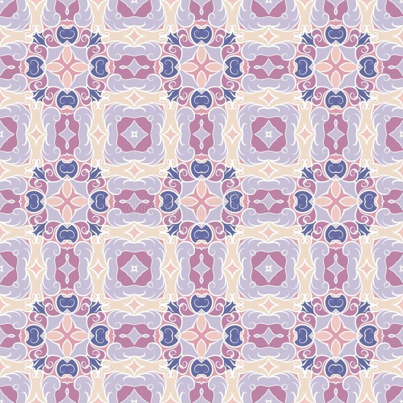 蓝色和淡紫色样式 向量例证