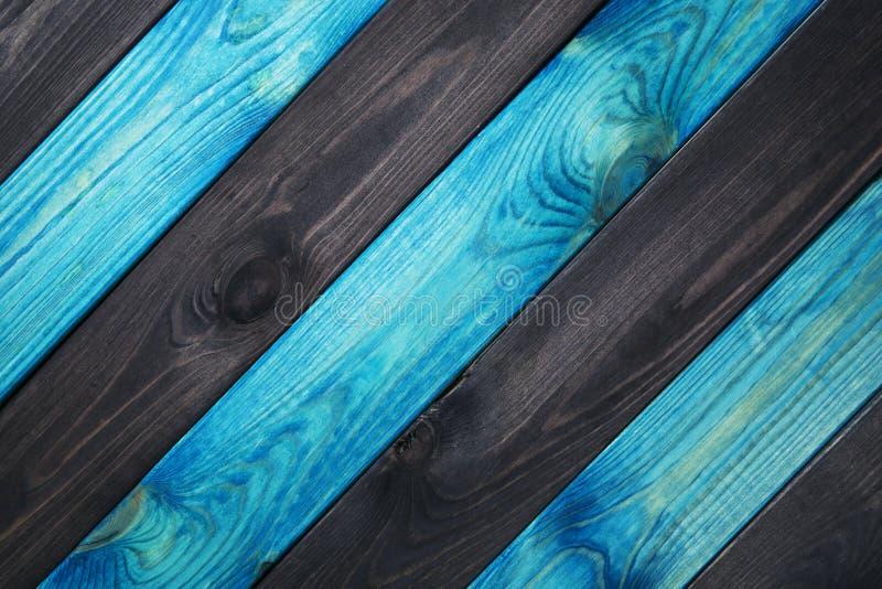 蓝色和深蓝木纹理背景 库存照片