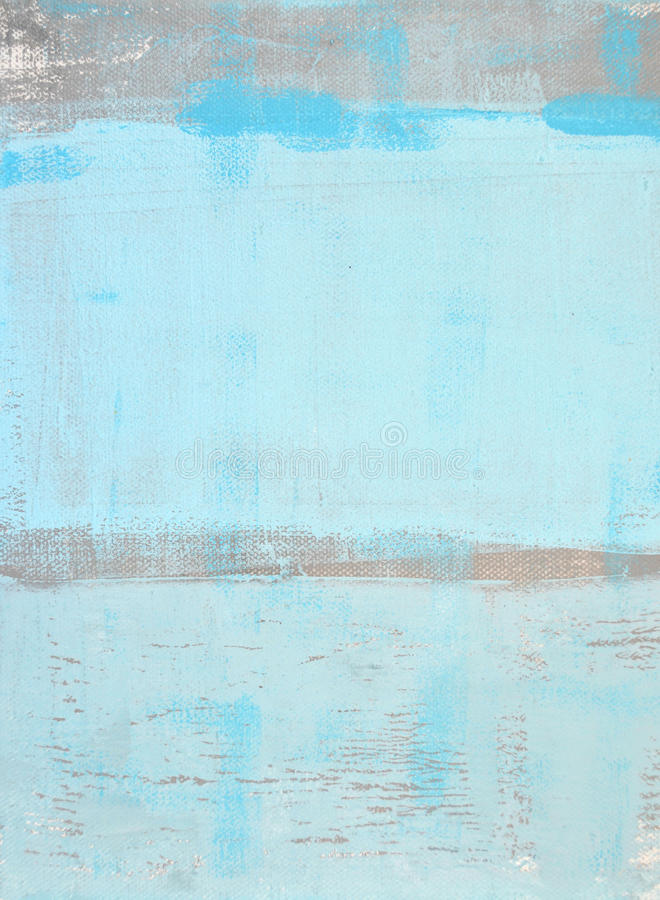 蓝色和灰色抽象派绘画 库存照片
