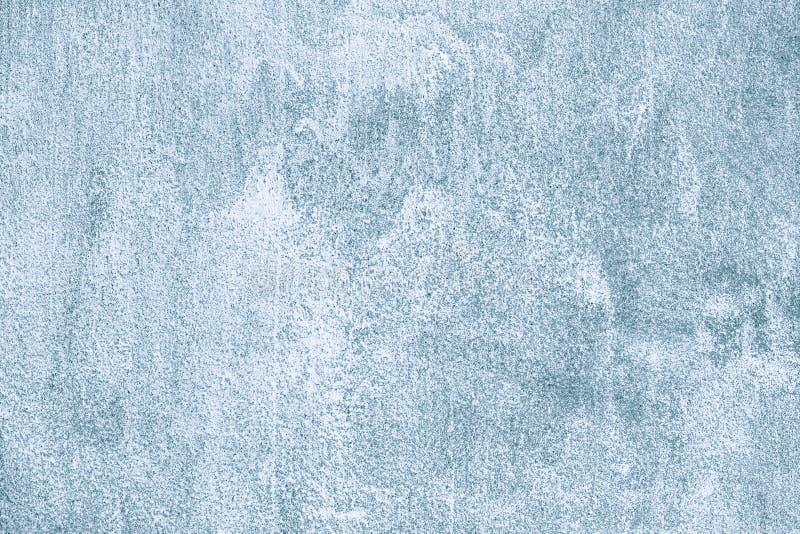 蓝色和灰色混凝土墙,水泥背景 难看的东西石纹理 设计元素,明亮的样式 抽象样式 免版税图库摄影