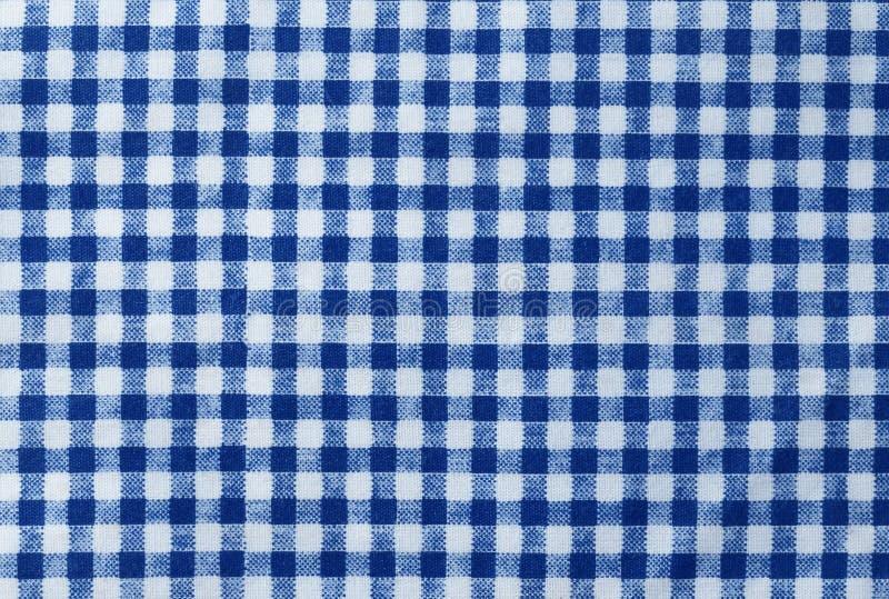 蓝色和白色伐木工人格子花呢披肩无缝的样式 免版税库存图片