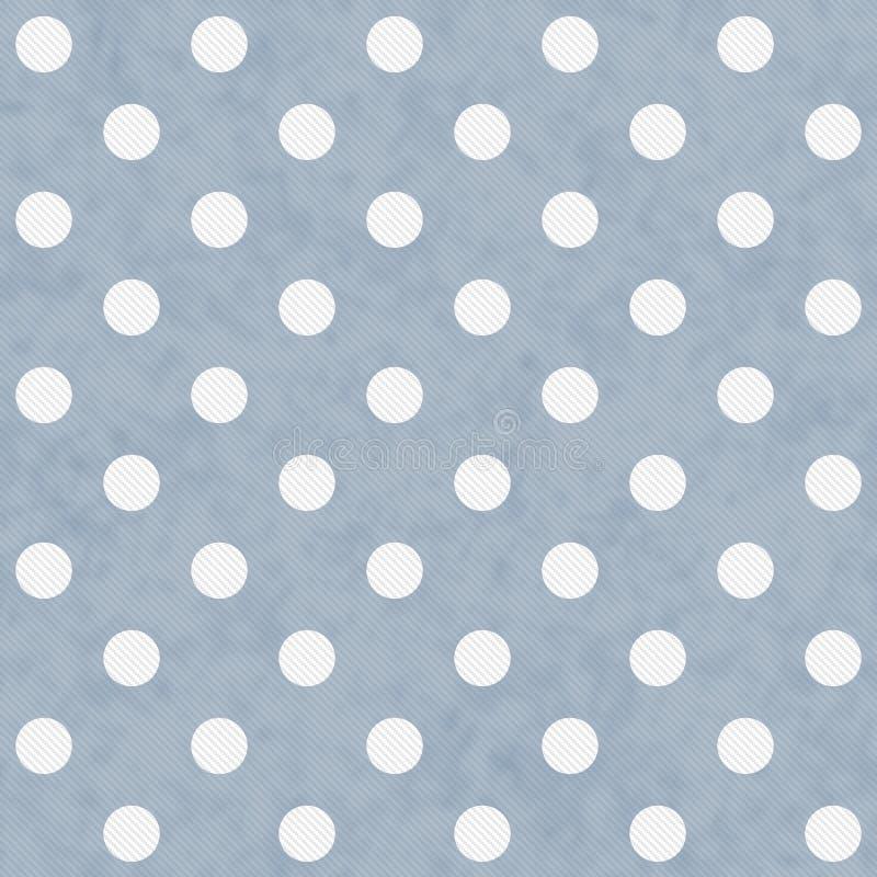 蓝色和白色大圆点样式重复背景 皇族释放例证
