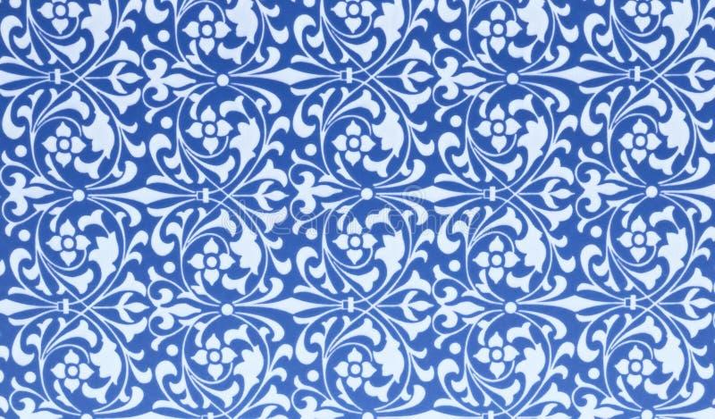 蓝色和白色样式背景  免版税库存图片