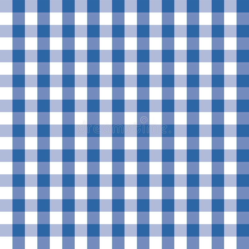 蓝色和白色格子花呢披肩无缝的样式 方格的无缝的传染媒介样式 伟大为背景,织品,包装,和 皇族释放例证