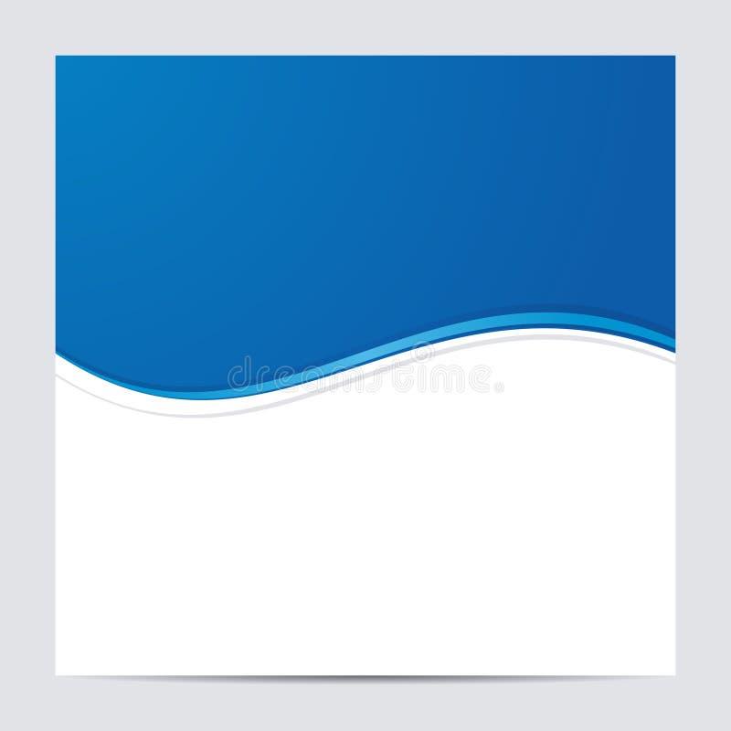 蓝色和白色空白的抽象背景 向量 向量例证