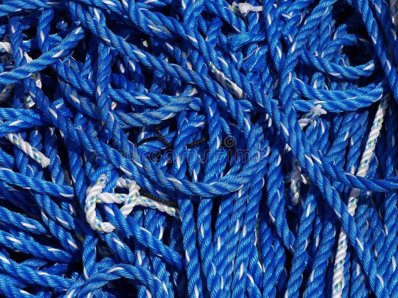 蓝色和白色绳索 免版税库存照片