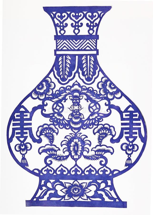 蓝色和空白瓷 免版税库存照片