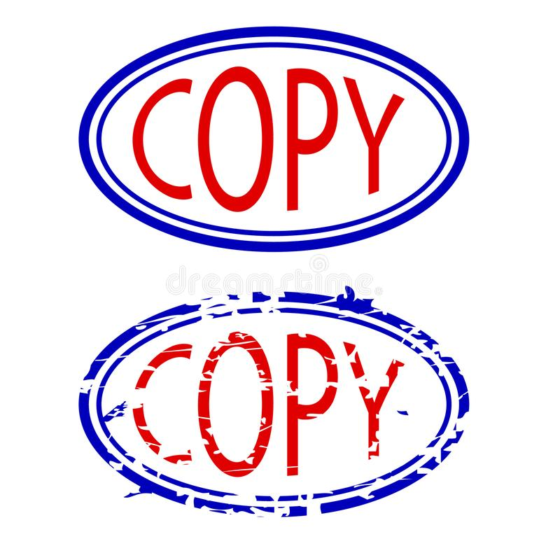 蓝色和红色不加考虑表赞同的人,拷贝 免版税图库摄影