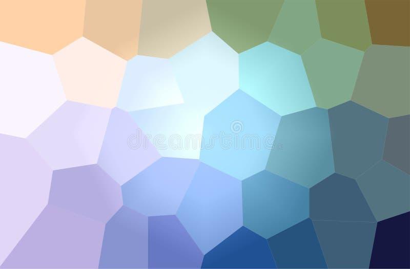 蓝色和黄色巨型六角形水平的背景的例证 向量例证