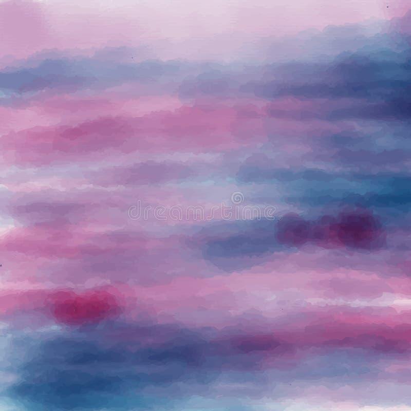 蓝色和紫罗兰色抽象纹理 库存例证