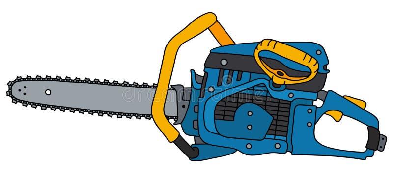 蓝色和黄色锯 向量例证