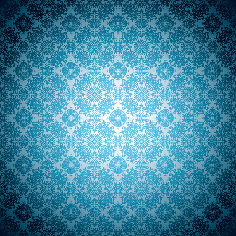 蓝色哥特式苍白墙纸 皇族释放例证