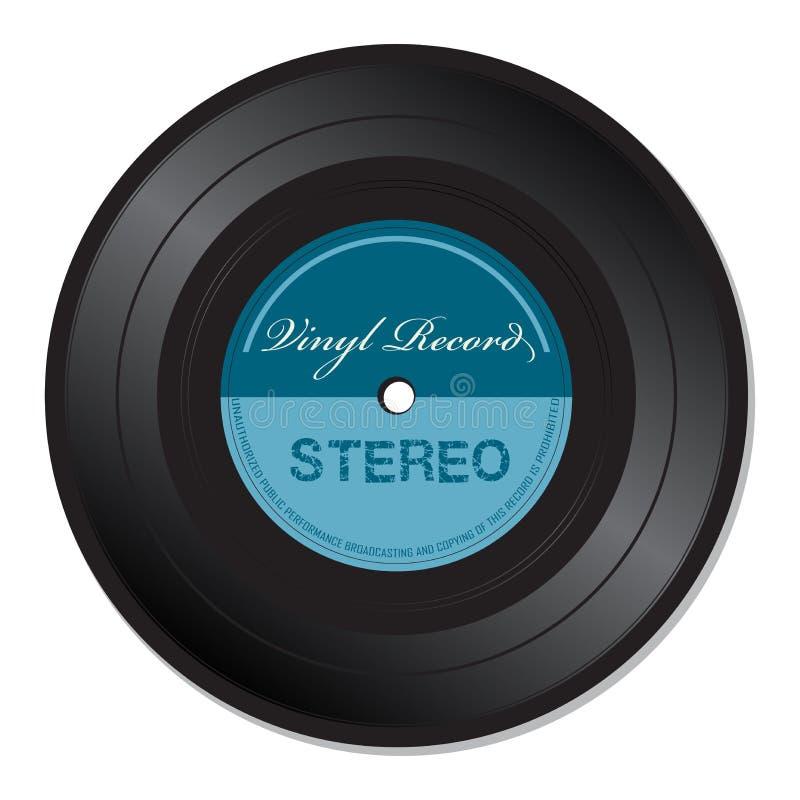 蓝色唱片 向量例证
