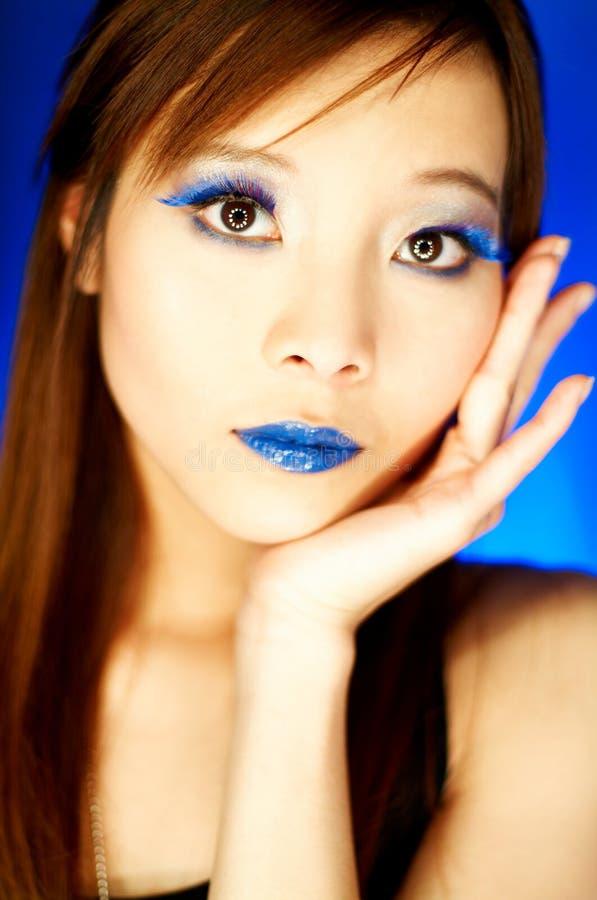 蓝色嘴唇 免版税库存图片