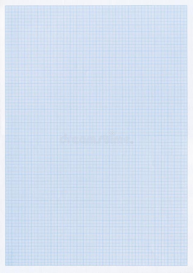 蓝色图形网格纸张 免版税库存照片