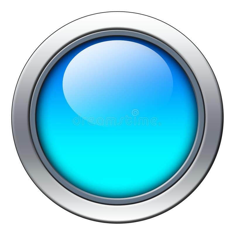蓝色图标 向量例证