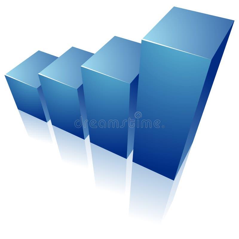 蓝色图表 皇族释放例证