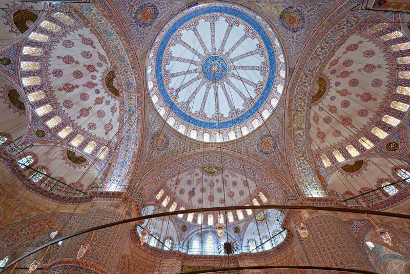 蓝色圆屋顶伊斯坦布尔清真寺tu 免版税库存图片