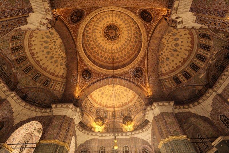 蓝色圆屋顶清真寺 库存照片