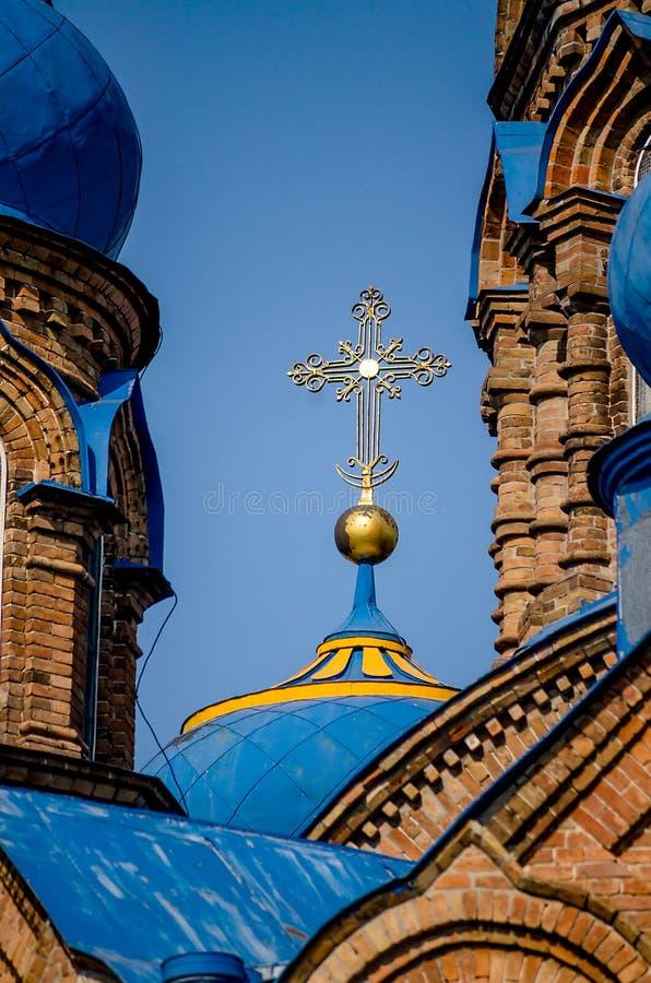 蓝色圆顶古庙  库存照片