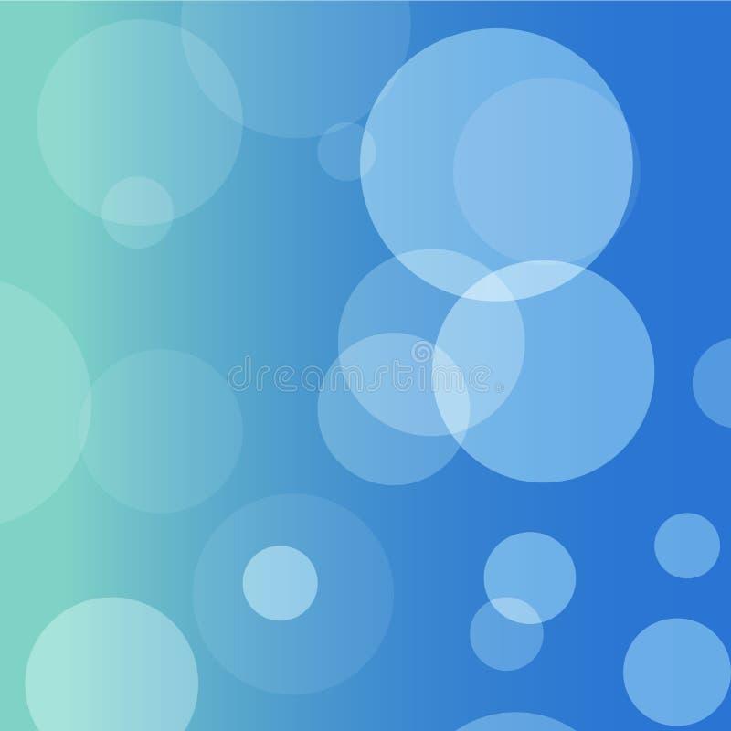 蓝色圈子不是清楚的背景 免版税库存照片