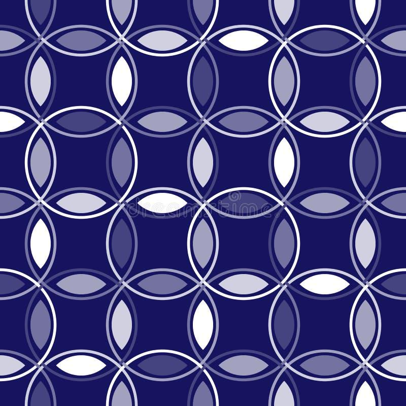 蓝色圈子互锁 向量例证