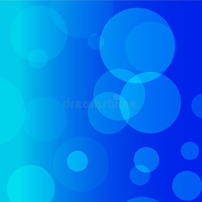 蓝色圈子和蓝色传染媒介背景 免版税库存照片