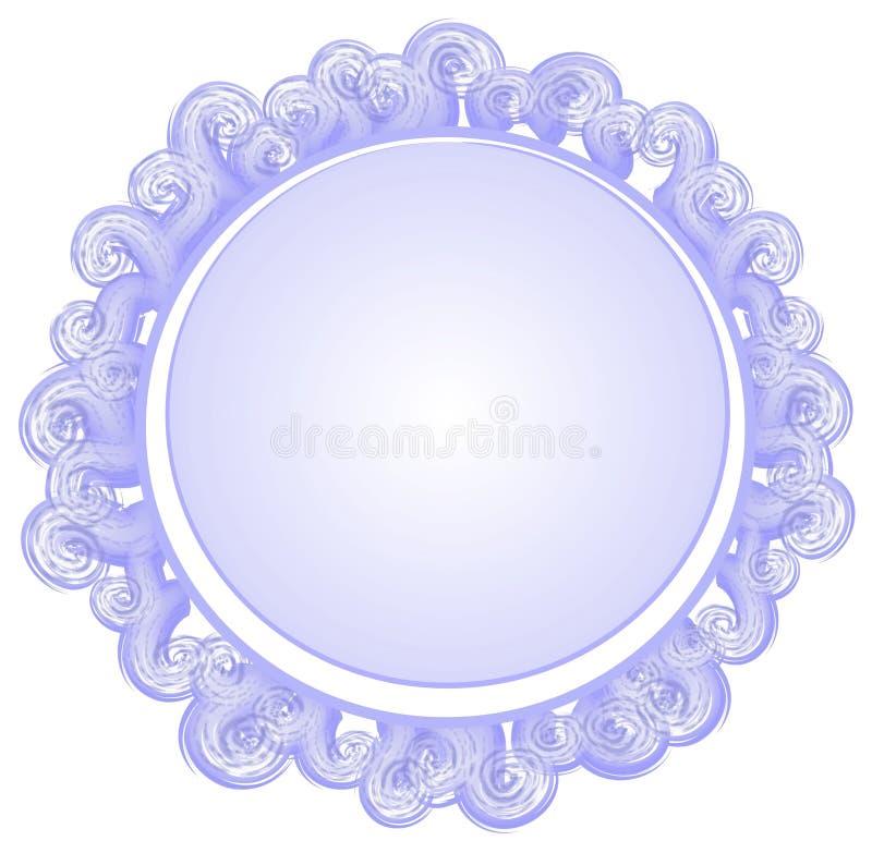 蓝色圈子徽标被塑造的漩涡 向量例证