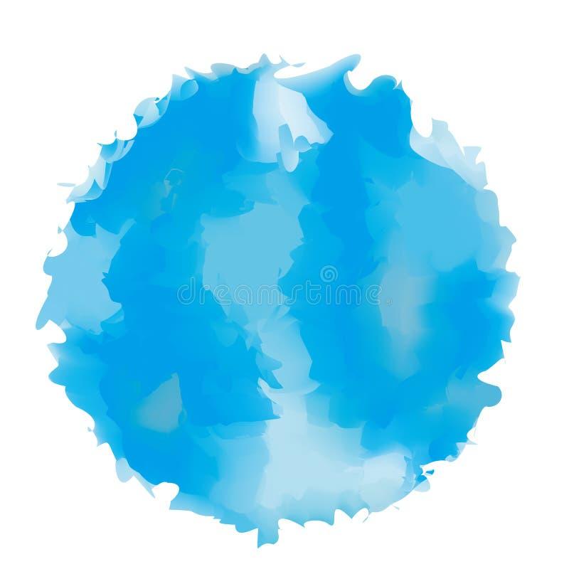 蓝色圈子被绘的背景 库存图片