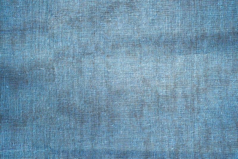 蓝色土气老织品背景 免版税库存图片