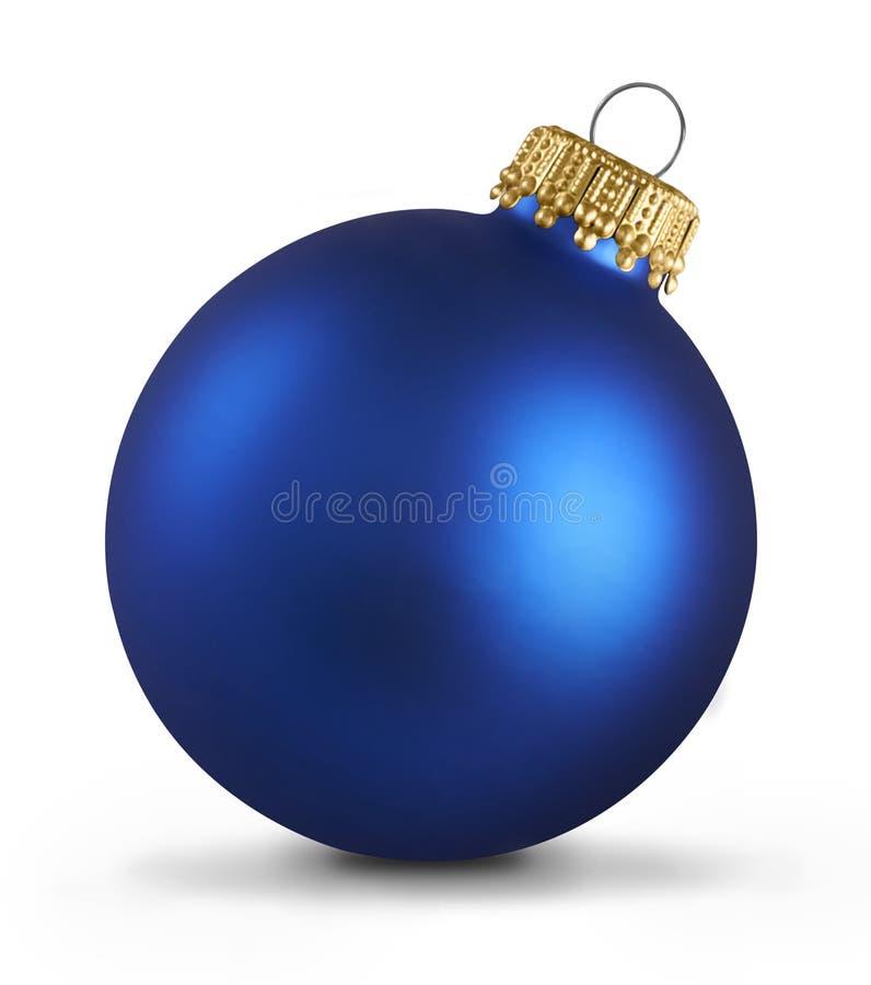 蓝色圣诞节中看不中用的物品球 免版税库存照片