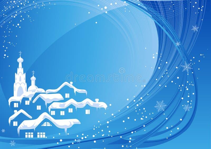 蓝色圣诞节国家(地区) 向量例证
