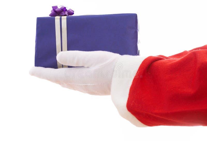 蓝色圣诞节礼品 免版税库存照片