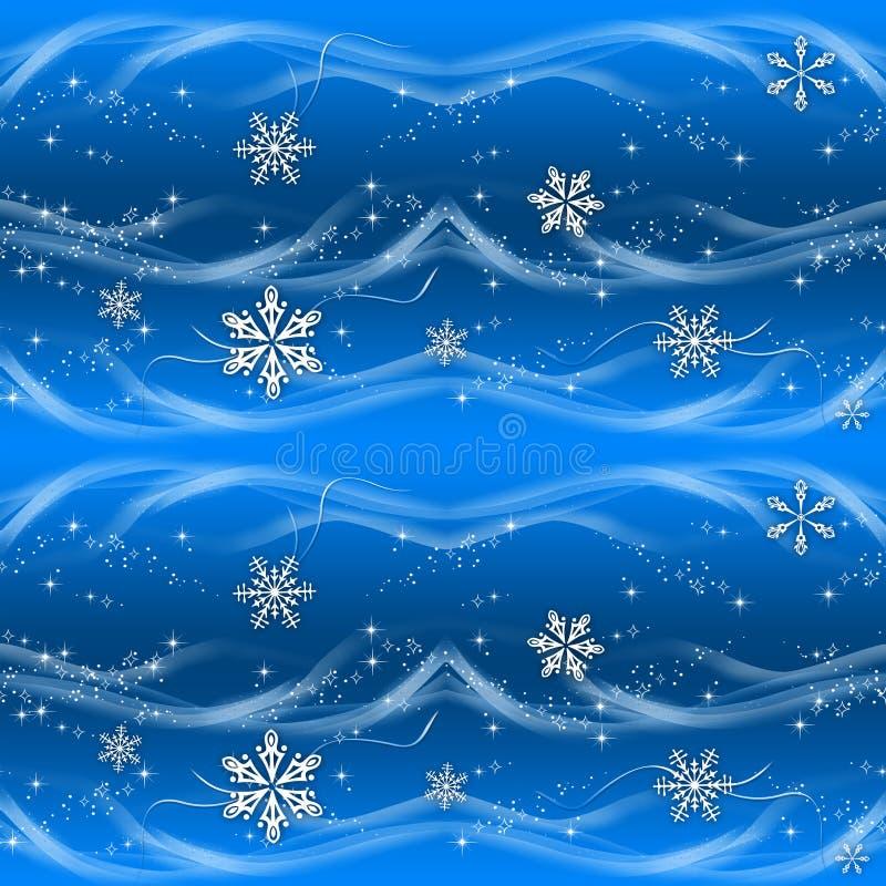 蓝色圣诞节纸张银色包裹 向量例证