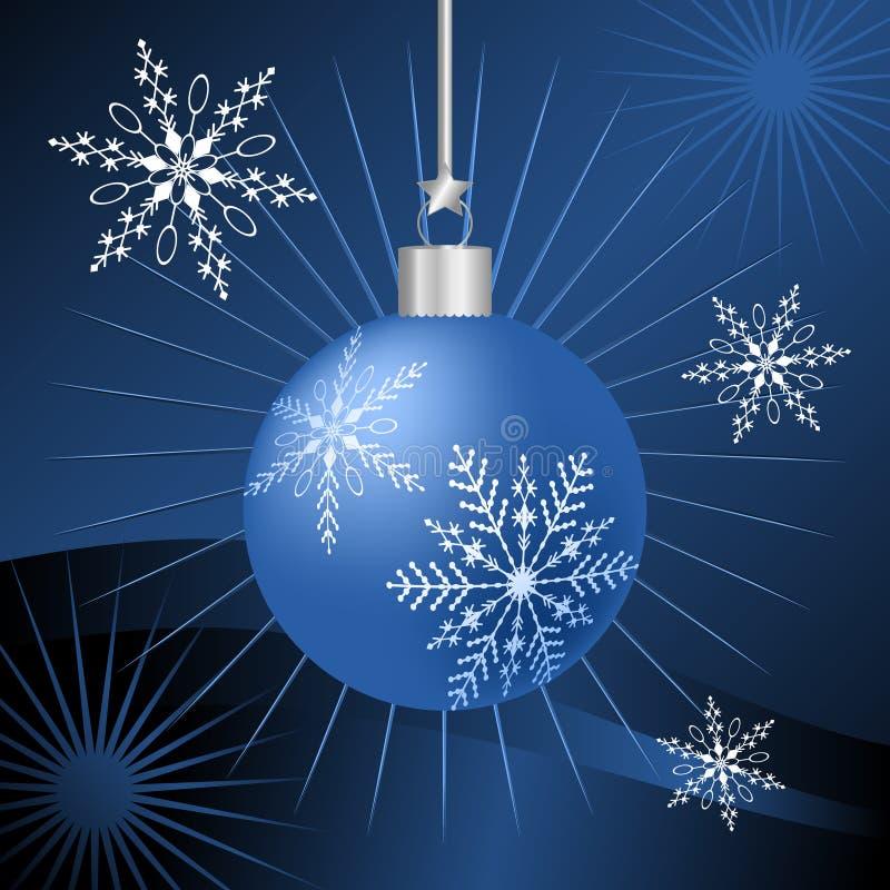 蓝色圣诞节装饰品 向量例证