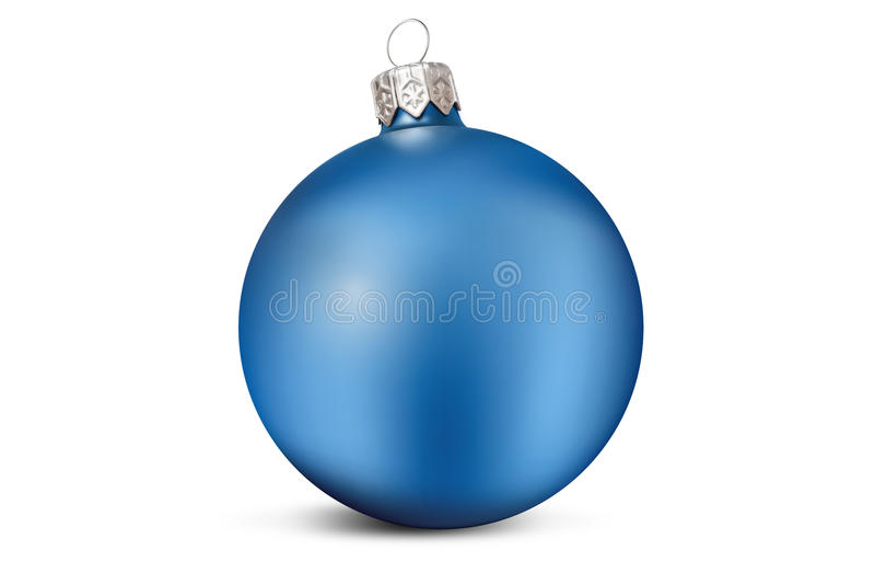 蓝色圣诞节装饰球 免版税库存照片
