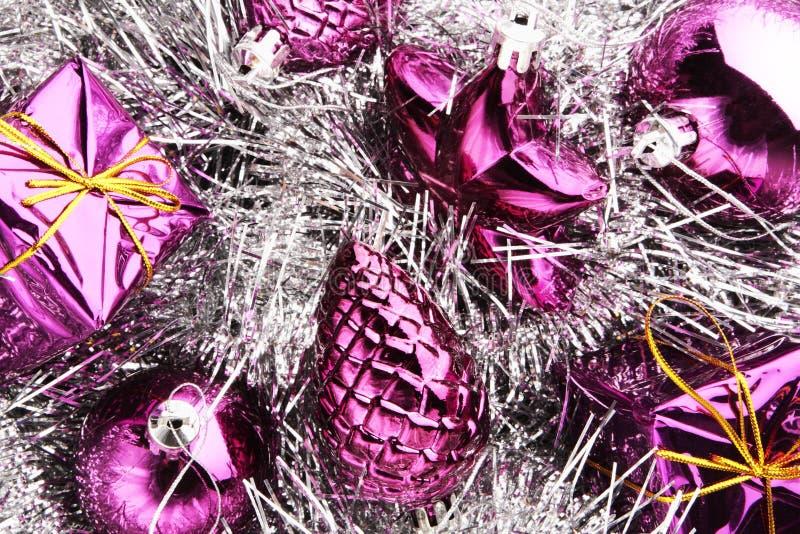 蓝色圣诞节装饰 免版税图库摄影