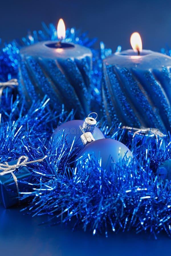 蓝色圣诞节 免版税库存照片