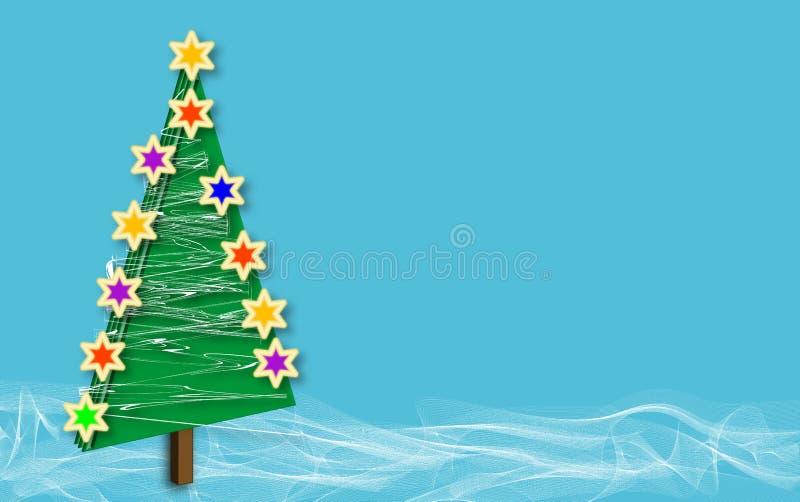 蓝色圣诞节copys雪结构树 图库摄影