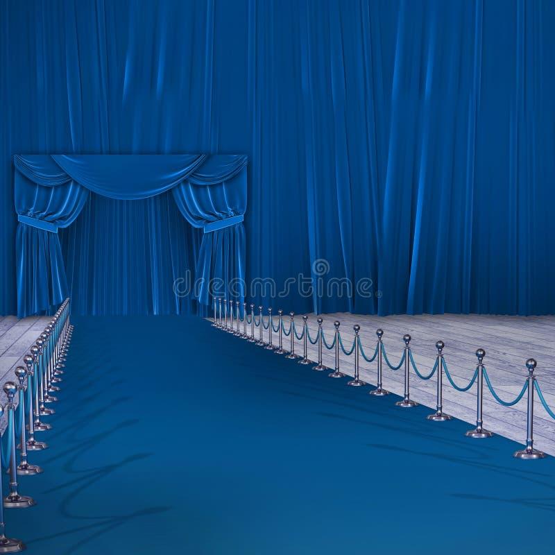 蓝色地毯事件的综合图象的综合图象 库存例证