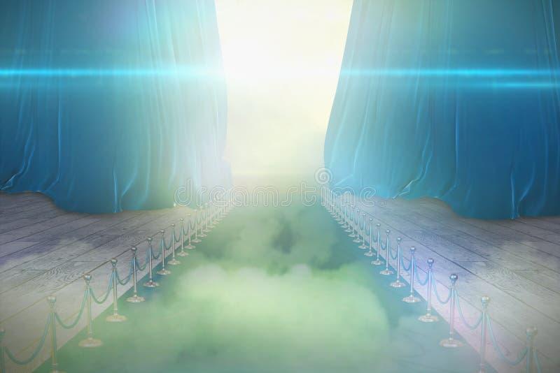 蓝色地毯事件的说明图象的综合图象 库存例证