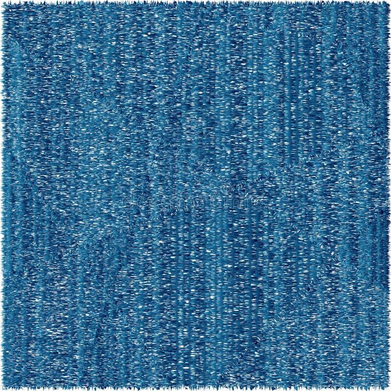 蓝色地毯作用,五颜六色 库存例证